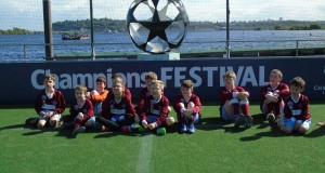 Celebrating UEFA's support for CP Football